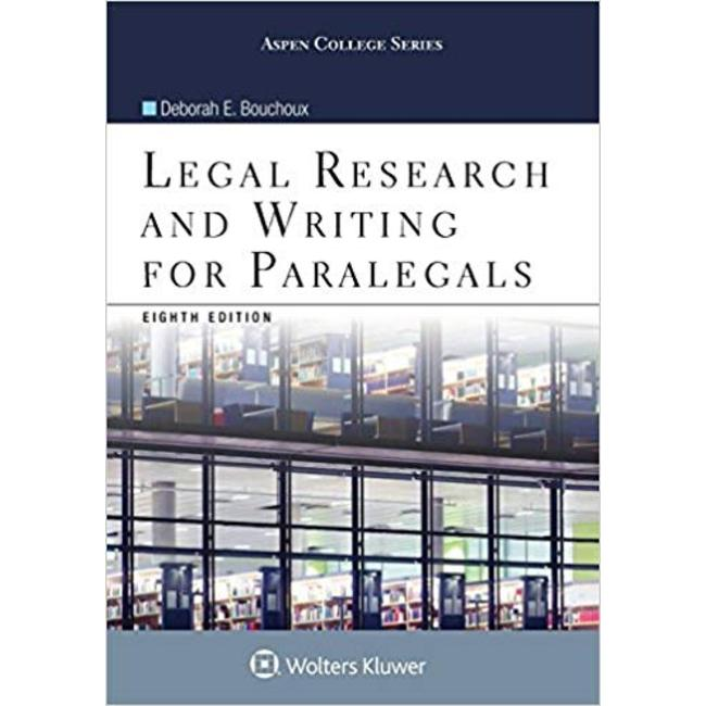USED || BOUCHOUX / LEGAL RESEARCH & WRITING FOR PARALEGALS