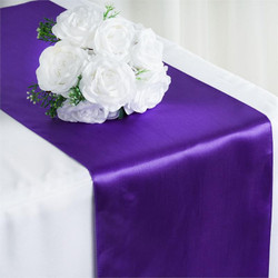 12X108 SATIN TABLE RUNNER-PURPLE
