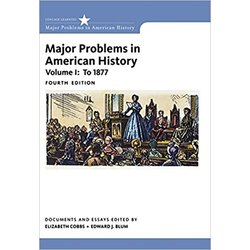 NEW || COBBS / MAJOR PROBLEMS IN AMERICAN HISTORY VOL I