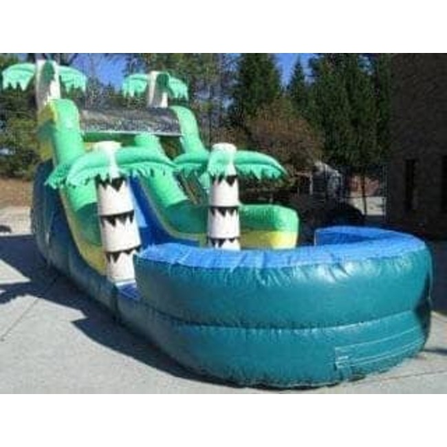 16ft Waterslide - Palm Tree #1 with Pool