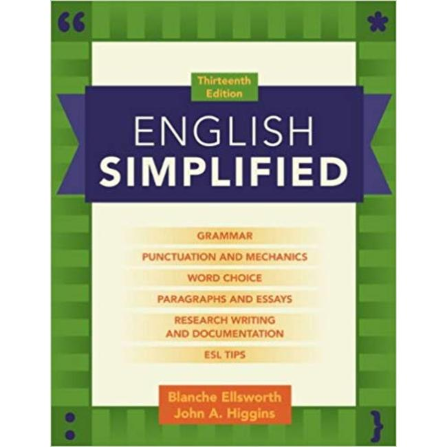 NEW    ELLSWORTH / ENGLISH SIMPLIFIED