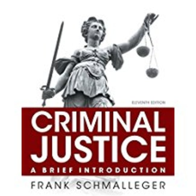 Used| SCHMALLEGER / CRIMINAL JUSTICE: BRIEF INTRO 11th | Instructor: DOCHNAHL