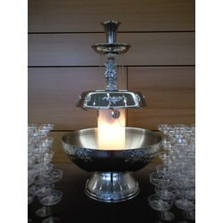 Champagne Fountain 5 Gal. W/Silver Trim