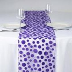 Groovy Dots Table Runner - Purple
