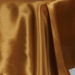 60X102 SATIN TABLECLOTH- GOLD