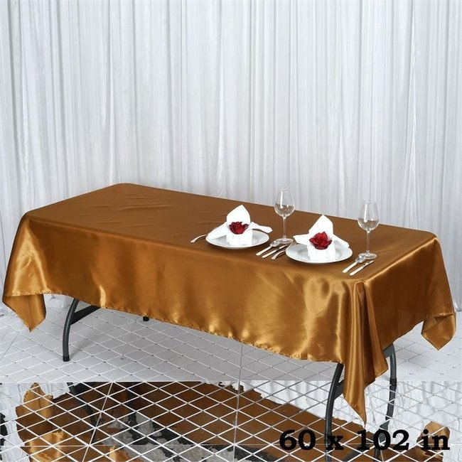 60X102 SATIN TABLECLOTH- GOLD