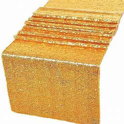 12x108 SEQUIN TABLE RUNNER- BRIGHT GOLD