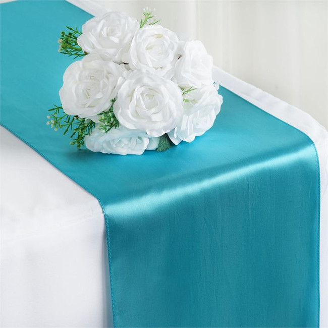 12X108 SATIN TABLE RUNNER-TURQUOISE