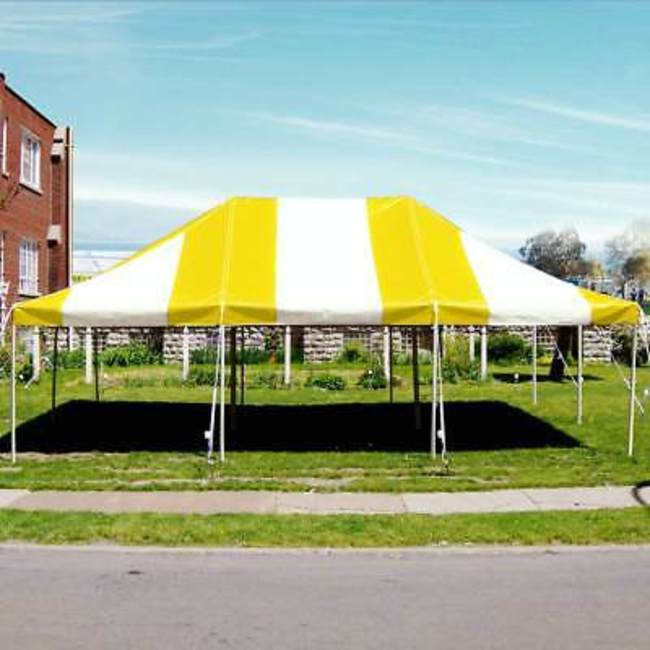 Medium  Party Tent with Rectangular Tables