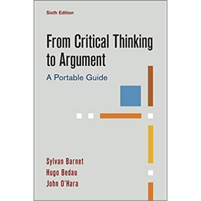 NEW || BARNET / FROM CRITICAL THINKING TO ARGUMENT 6th