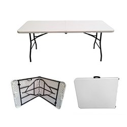 6 Ft. FOLDABLE BANQUET TABLE (SEATS 6-8)