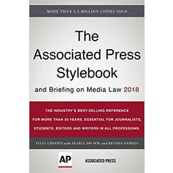 USED || ASSOC PRESS / ASSOC PRESS STYLEBK & BRFING ON MEDIA LAW 2018