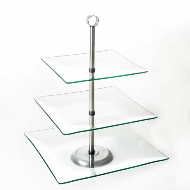 3 TIER STAND- CLEAR GLASS