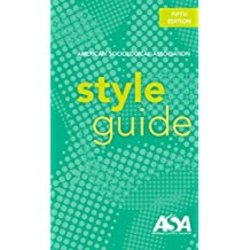 Used| AMER SOC ASSOC / STYLE GUIDE| Instructor: BRUTLAG