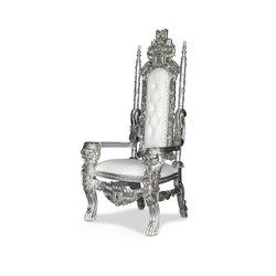 Silver/white Lion throne