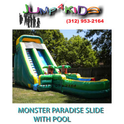 Monster Paradise Slide With Pool