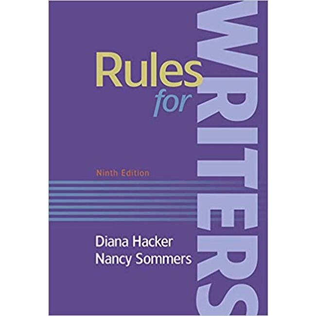 USED || HACKER / RULES FOR WRTRS 9TH